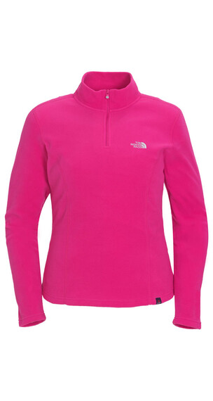 The North Face Women's 100 Glacier 1/4 Zip fusion pink